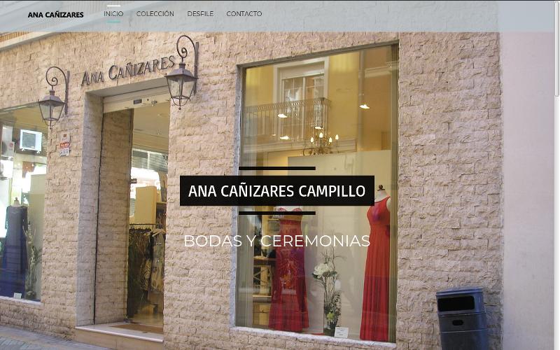 Pagina web Ana Cañizares