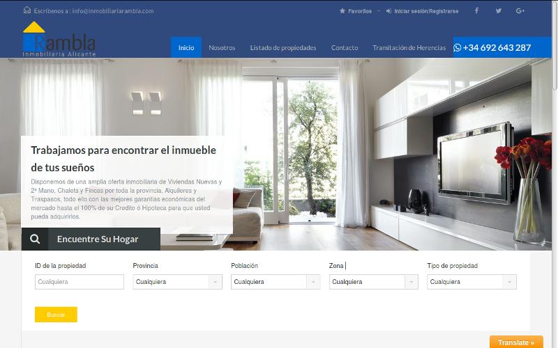 Pagina web Inmobiliaria Rambla