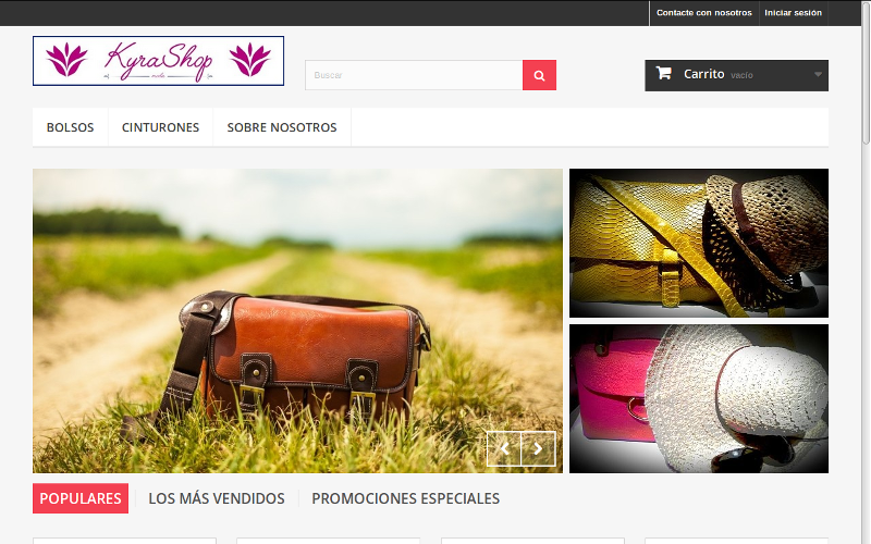 Pagina web Kyra Shop