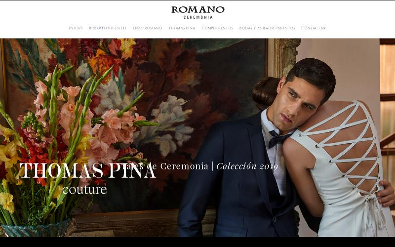 Pagina web Romano Ceremonia