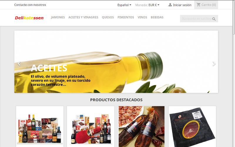 Pagina web Spanische Delikatessen
