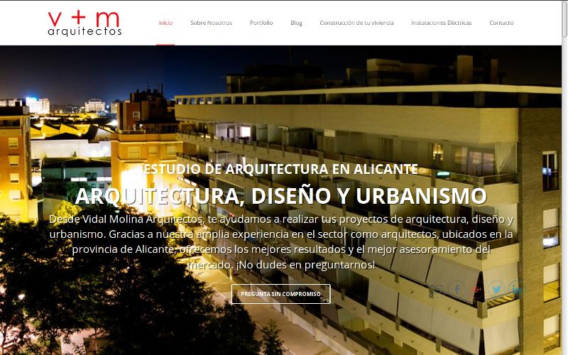 Pagina web Vidal y Molina Arquitectos